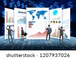concept of business charts and... | Shutterstock . vector #1207937026