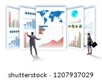 concept of business charts and... | Shutterstock . vector #1207937029