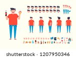 front  side  back view animated ... | Shutterstock .eps vector #1207950346