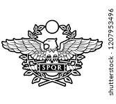 logo of the roman eagle. | Shutterstock .eps vector #1207953496