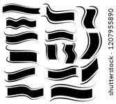 black ribbons on white... | Shutterstock .eps vector #1207955890