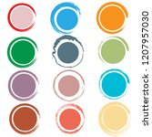 circle with brush edge | Shutterstock .eps vector #1207957030
