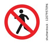 a prohibition for walk or step  ... | Shutterstock .eps vector #1207957096