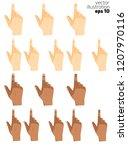 et of hands of cursors of... | Shutterstock .eps vector #1207970116