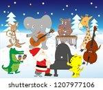 white christmas  the animals... | Shutterstock .eps vector #1207977106