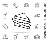 sandwich icon. fast food icons... | Shutterstock . vector #1207981330