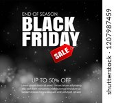 black friday sale with lights... | Shutterstock .eps vector #1207987459