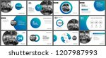 presentation and slide layout... | Shutterstock .eps vector #1207987993
