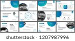 presentation and slide layout... | Shutterstock .eps vector #1207987996
