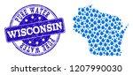 map of wisconsin state vector... | Shutterstock .eps vector #1207990030