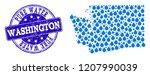 map of washington state vector... | Shutterstock .eps vector #1207990039