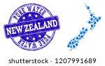 map of new zealand vector... | Shutterstock .eps vector #1207991689