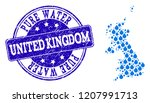 map of united kingdom vector... | Shutterstock .eps vector #1207991713