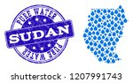 map of sudan vector mosaic and... | Shutterstock .eps vector #1207991743