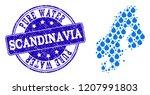 map of scandinavia vector... | Shutterstock .eps vector #1207991803