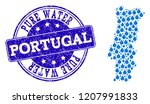 map of portugal vector mosaic... | Shutterstock .eps vector #1207991833