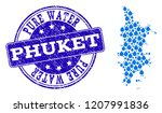 map of phuket vector mosaic and ... | Shutterstock .eps vector #1207991836
