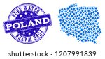 map of poland vector mosaic and ... | Shutterstock .eps vector #1207991839