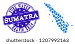 map of sumatra island vector... | Shutterstock .eps vector #1207992163