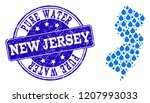 map of new jersey state vector... | Shutterstock .eps vector #1207993033