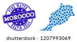 map of morocco vector mosaic... | Shutterstock .eps vector #1207993069