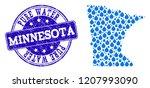 map of minnesota state vector... | Shutterstock .eps vector #1207993090