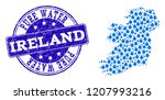 map of ireland island vector... | Shutterstock .eps vector #1207993216