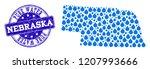 map of nebraska state vector... | Shutterstock .eps vector #1207993666