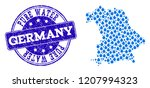 map of germany vector mosaic... | Shutterstock .eps vector #1207994323