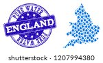 map of england vector mosaic... | Shutterstock .eps vector #1207994380