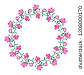 flower wreath  abstract floral... | Shutterstock .eps vector #1208000170