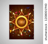 beautiful happy diwali colorful ... | Shutterstock .eps vector #1208001940