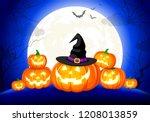 Halloween Pumpkins  Moon And...