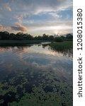 irish twilight sunset over... | Shutterstock . vector #1208015380