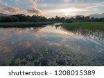 irish twilight sunset over... | Shutterstock . vector #1208015389