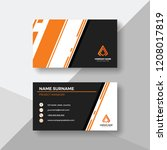 creative business card with... | Shutterstock .eps vector #1208017819