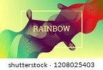 rainbow fluid background.... | Shutterstock .eps vector #1208025403