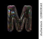 soap bubble letter m   capital... | Shutterstock . vector #1208028163