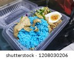 blue color rice with its... | Shutterstock . vector #1208030206