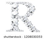 diamond letters with gemstones  ... | Shutterstock . vector #1208030353
