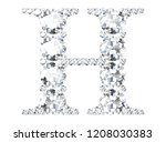 diamond letters with gemstones  ... | Shutterstock . vector #1208030383