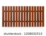 wooden fence on white... | Shutterstock . vector #1208032513