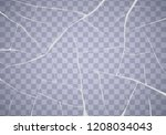 the surface texture is cracked... | Shutterstock .eps vector #1208034043