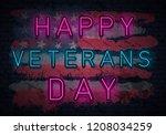usa veterans day background...   Shutterstock .eps vector #1208034259