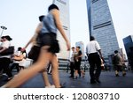 shanghai pudong city  people | Shutterstock . vector #120803710