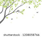 beautiful tree branch with... | Shutterstock .eps vector #1208058766