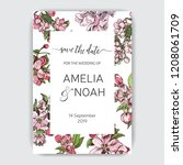 template for wedding invitation.... | Shutterstock .eps vector #1208061709