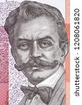 Ivan Cankar portrait from Slovenian money