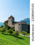 beautiful architecture at vaduz ... | Shutterstock . vector #1208069143