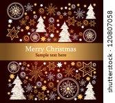 winter card | Shutterstock .eps vector #120807058